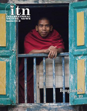 Cover of September, 2018 issue of International Travel News