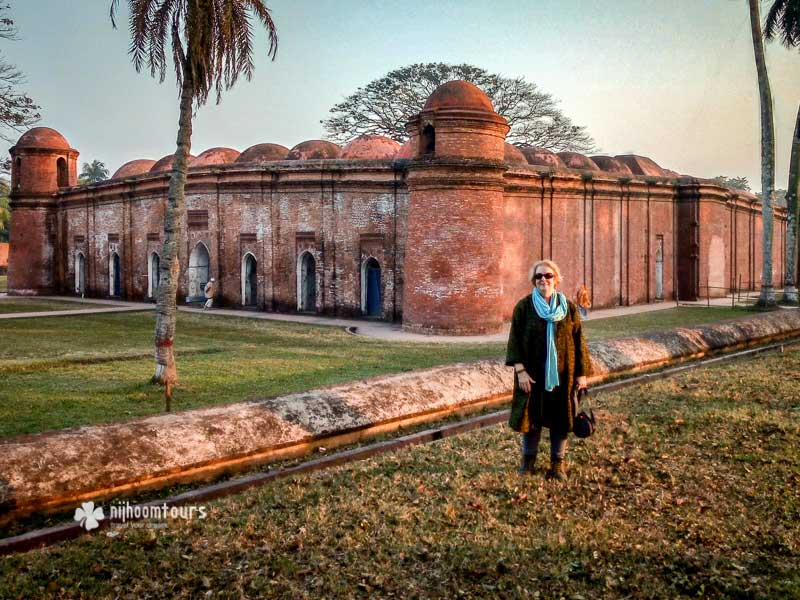At Sixty Dome Mosque in Bagerhat, a UNESCO World Heritage Site