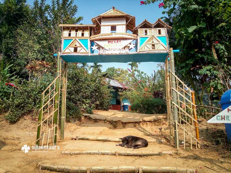 A Khasia tribal village