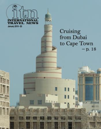 Cover of January, 2019 issue of International Travel News