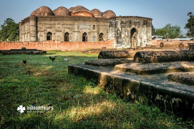 Chhoto Sona Masjid (Small Golden Mosque) in Gaur, the ancient Bengal city from the medieval period. Number three on our list of the best archaeological sites in Bangladesh.