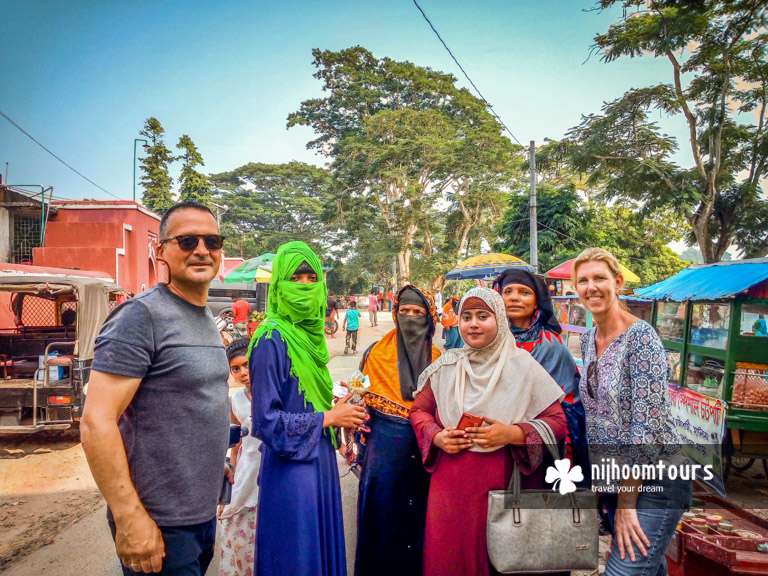 More photo with the locals in Bangladesh