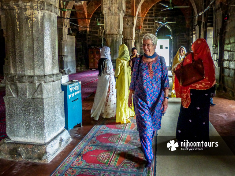 Inside a mosque at the lost city of Gauda in Bangladesh