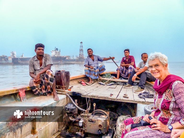 Visiting the ship breaking yards with a powered boat