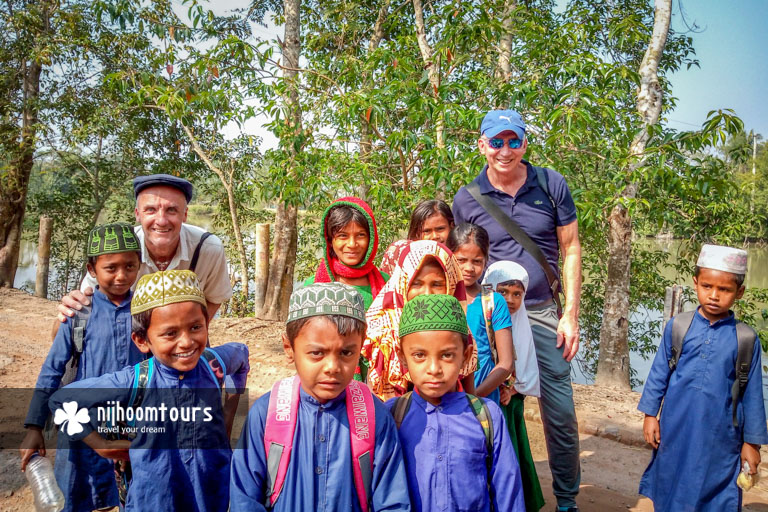 With some happy children in Bangladesh