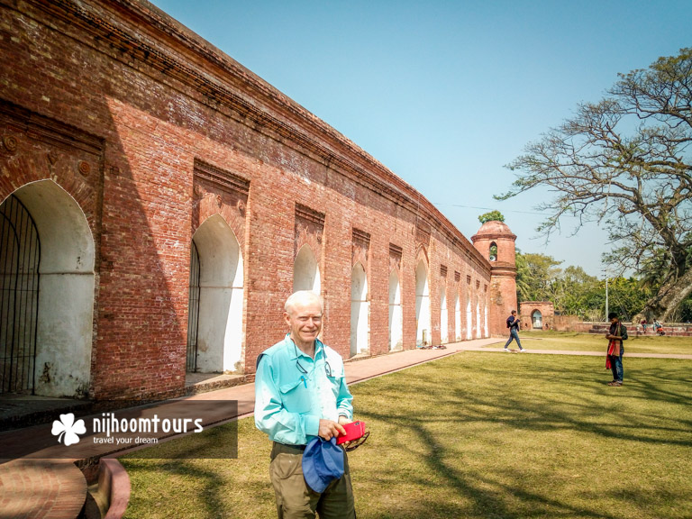 At the Sixty Dome Mosque in Bagerhat