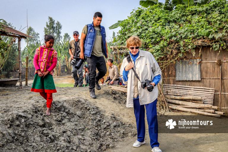 Visiting a river island in Bangladesh