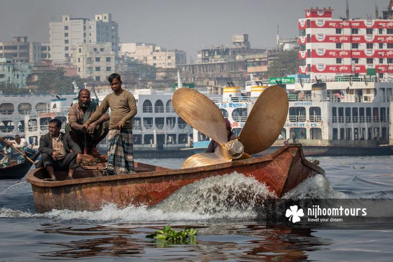 Sadarghat waterfront in Old Dhaka