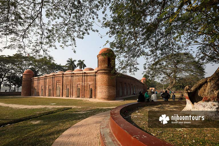 Sixty Dome Mosque (Shat Gombuj Mosque) in Bagerhat City
