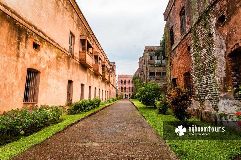 A photo of houses inside Baliati Palace (Jamidar Bari)