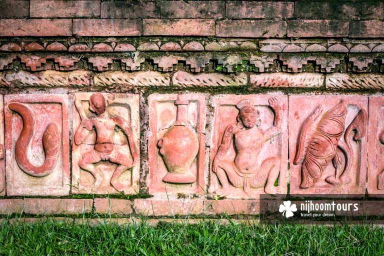 Terracotta plaques at Somapura Mahavihara (Sompur Bihar) in Paharpur
