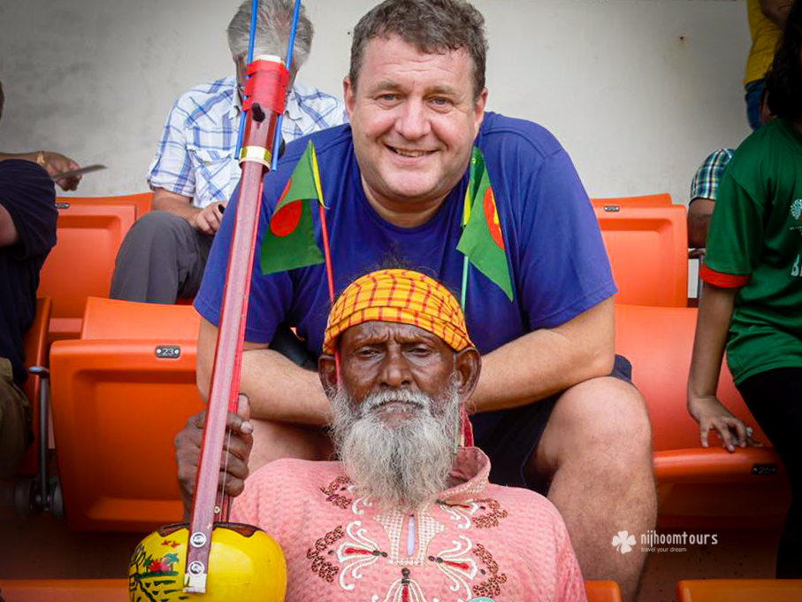 Michael Kendall from England, who visited Bangladesh for 08 days in October, 2016, during the England cricket team's Bangladesh tour