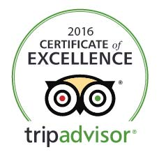 TripAdvisor Certificate of Excellence 2016 Award