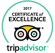 TripAdvisor Certificate of Excellence 2017 Award