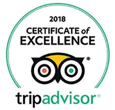 TripAdvisor Certificate of Excellence 2018 Award