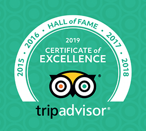 TripAdvisor Certificate of Excellence 2015, 2016, 2017, 2018, and 2019 award winning tour operator in Bangladesh